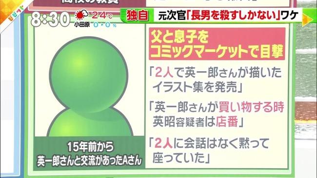 農水省元事務次官 長男殺害 コミケ 売り子 家庭内暴力に関連した画像-03
