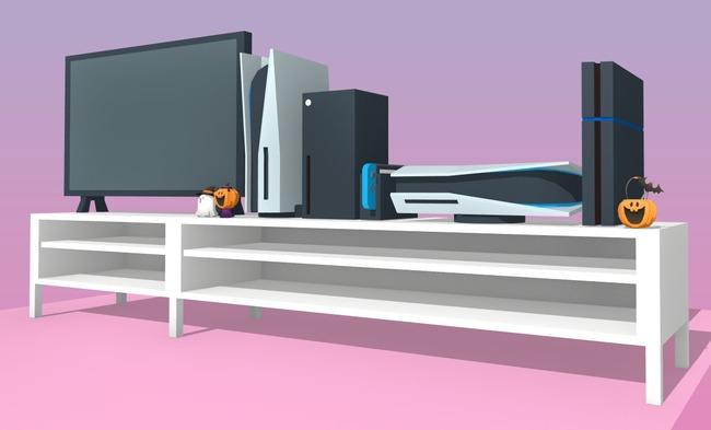 PS5 大きさ 比較 リビング テレビに関連した画像-09