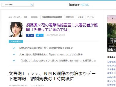 須藤凛々花 NMB48 結婚 友達 総選挙に関連した画像-02