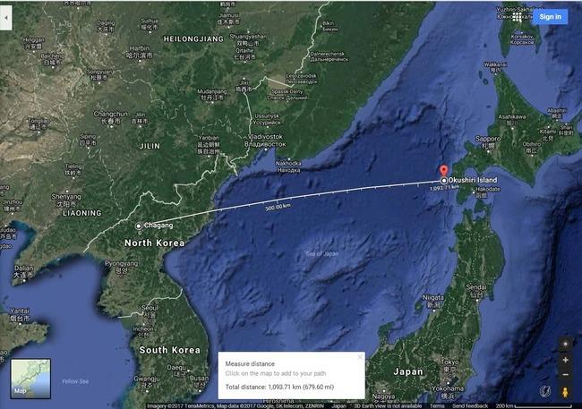 北朝鮮ミサイル落下に関連した画像-03