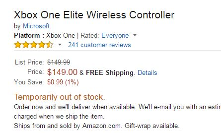 Xbox エリートコントローラー 品薄に関連した画像-05