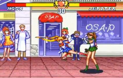 セーラームーン SFC 格ゲー 場外乱闘 主役争奪戦 超必殺技に関連した画像-04