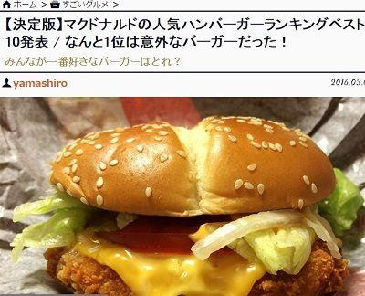 マクドナルド ハンバーガー 人気 ランキング アンケート モグモグマック 名前募集バーガーに関連した画像-02