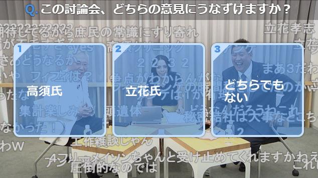 高須克弥 立花孝志 マツコ・デラックス N国 討論 ニコ生に関連した画像-05