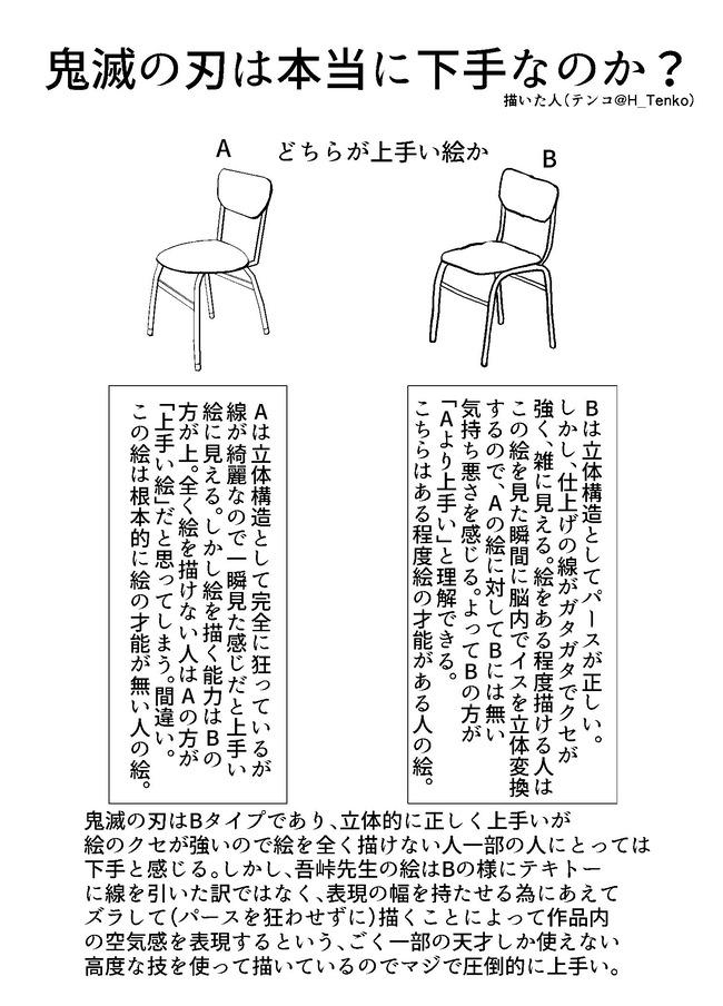 鬼滅の刃 絵 下手 上手い 漫画家に関連した画像-02
