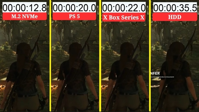 PS5 Day1パッチ 後方互換タイトル ロード改善 XboxSX 比較に関連した画像-03