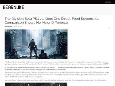 ザ・ディビジョン ディビジョン PS4 XboxOne スクショに関連した画像-02