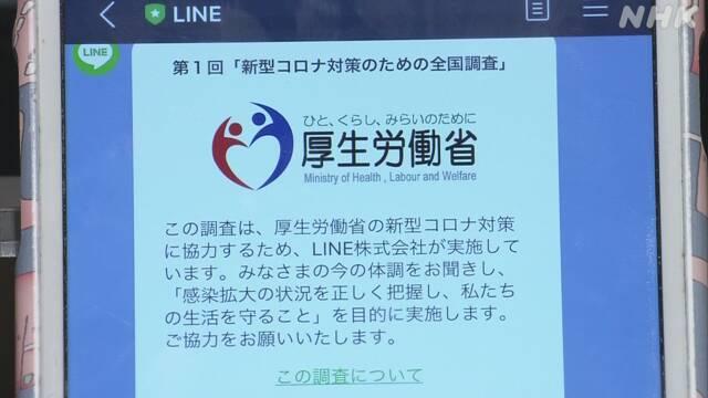 厚労省 LINE調査 発熱 新型コロナウイルスに関連した画像-01