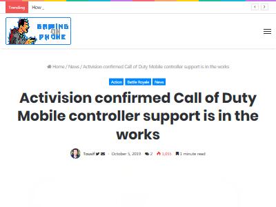 コールオブデューティ COD モバイル スマホ コントローラー Activisionに関連した画像-02
