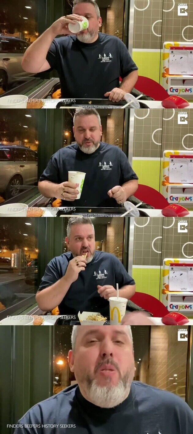 ユーチューバー 1年前 庭に埋めた マクドナルド ハンバーガー ビッグマック 食べるに関連した画像-03