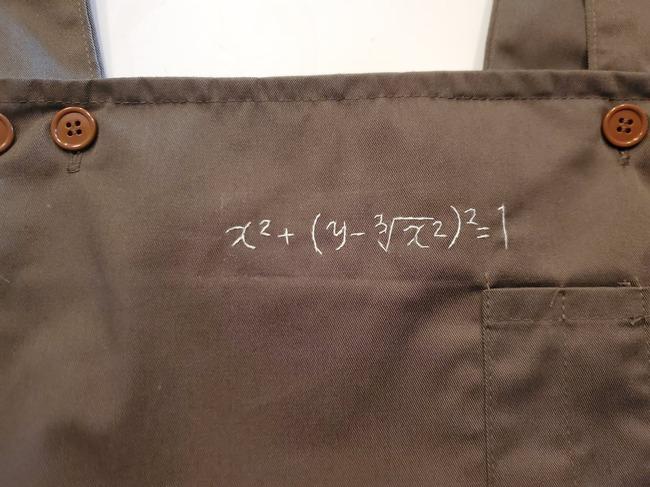 妻 謎 数式 刺繍 エプロン 恋の方程式 愛の方程式に関連した画像-03