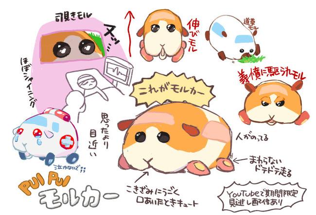モルカー アニメ ツイッター イラスト ファンアート 1話 モルモット ぬいぐるみに関連した画像-12