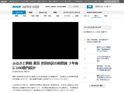 世田谷区 ふるさと納税 税収減に関連した画像-02