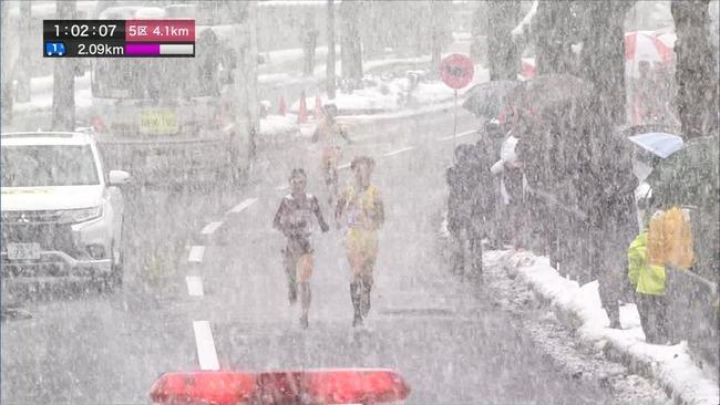 全国女子駅伝 雪 大雪 NHKに関連した画像-07
