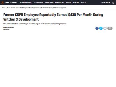 CDPR 月収 暴露 低賃金に関連した画像-02