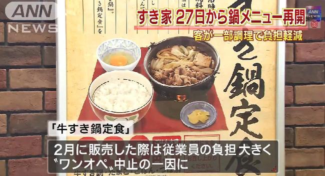 すき家 牛すき鍋 従業員に関連した画像-05