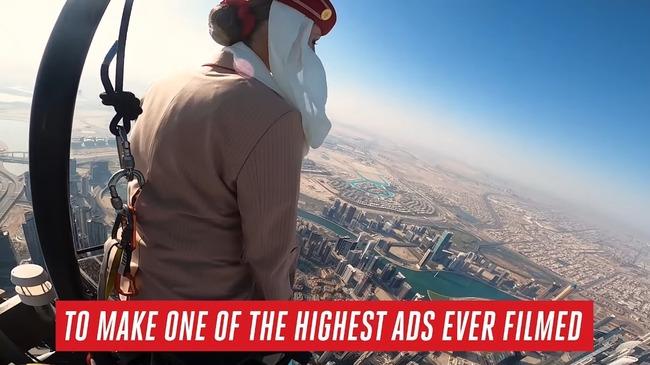 エレミーツ航空 CM ドバイ高層ビル ビルブルジュ・ハリファ 頂上 撮影に関連した画像-08