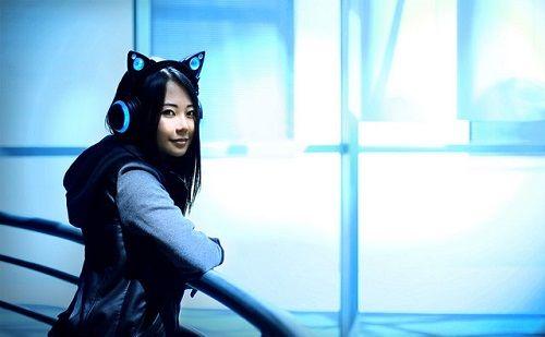 ヘッドホン ネコ耳 猫耳 プロトタイプ 動画 スピーカー LED Axent Wearに関連した画像-05