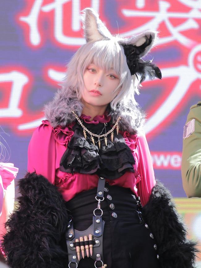 宇垣美里 コスプレ ハロウィン ケモミミ 銀髪に関連した画像-04