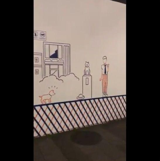 渋谷 工事中シャッター 絵に関連した画像-16