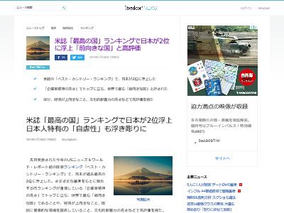 最高の国 ランキング 米誌 日本 2位 自虐性に関連した画像-02