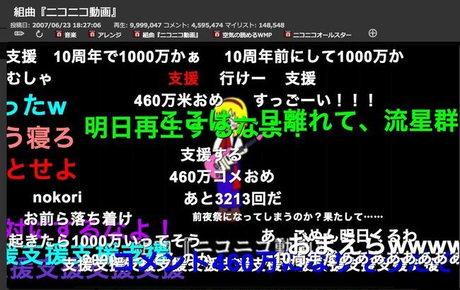 ニコニコ動画 組曲 再生数 1000万再生 コメントに関連した画像-02