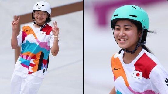 東京五輪 スケートボード スケボー 女子 西矢椛 金メダル 中山楓奈 銅メダルに関連した画像-01