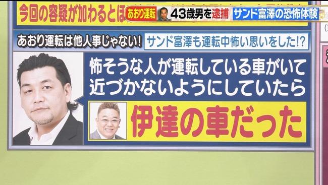 あおり運転 サンドウィッチマン 伊達みきお 富澤たけしに関連した画像-02