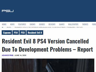 バイオハザード8 バイオ8 PS5 PS4 開発中止に関連した画像-02