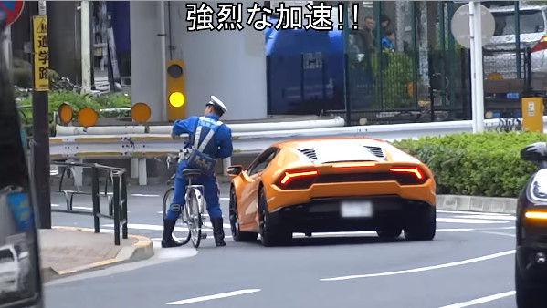 信号無視 ランボルギーニ 警察 警官 自転車に関連した画像-03