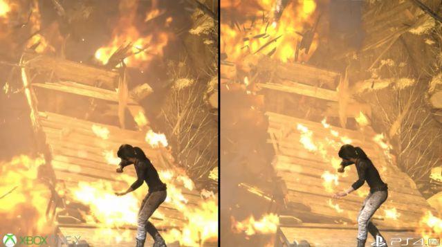 PS4Pro XboxOneX グラフィック 比較 ライズオブトゥームレイダー ハードに関連した画像-04