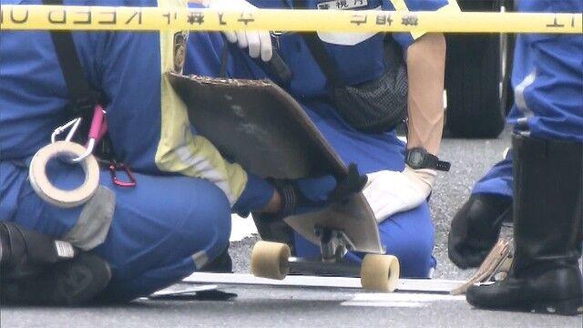 スケートボード 交通事故 車 一時停止 死角に関連した画像-01