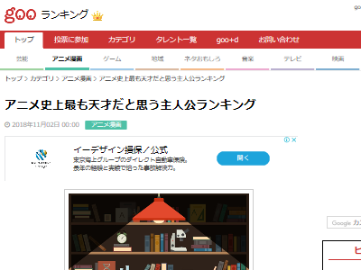 アニメ キャラ 天才 主人公 ランキングに関連した画像-02