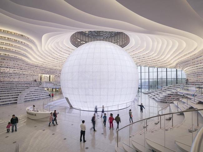 中国 図書館 浜海新区図書館に関連した画像-02
