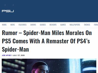 PS5 PS4 スパイダーマン マイルズ・モラレス リマスターに関連した画像-02