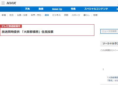 大阪都構想 賛否 賛成 反対 結果 住民投票に関連した画像-02