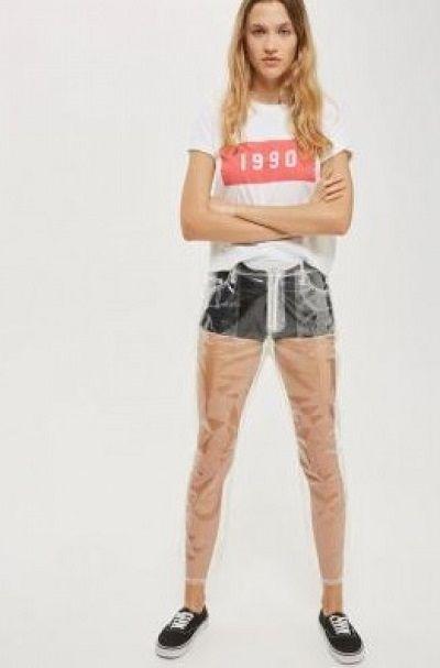 透明ジーンズ ファッション 流行に関連した画像-03