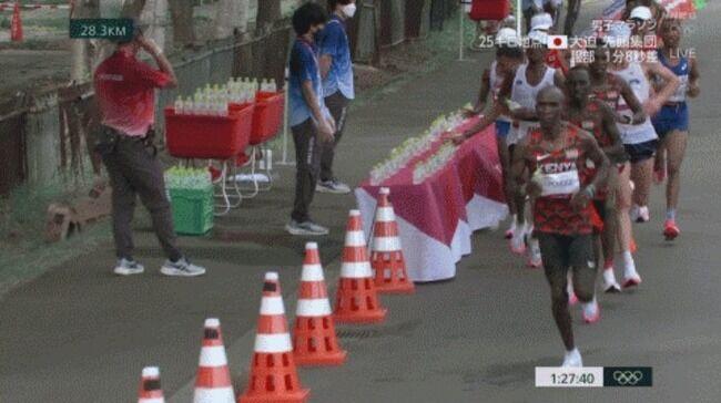 男子マラソン 給水所 水 フランス 選手 五輪 スポーツマンシップに関連した画像-01