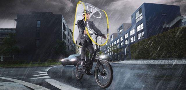 自転車 雨 傘 dryveに関連した画像-03