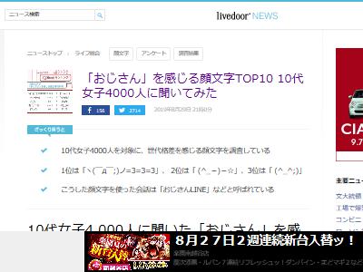 10代 女子 おじさん 顔文字 TOP10に関連した画像-02