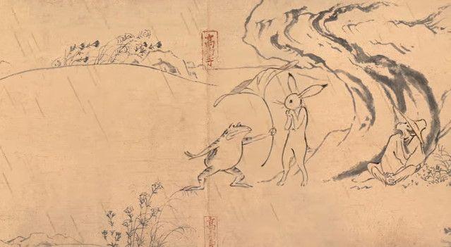 鳥獣戯画 ジブリ アニメ CM 丸紅新電力に関連した画像-07