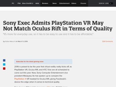 PSVR オキュラス ソニー オキュラスリフト VRに関連した画像-02