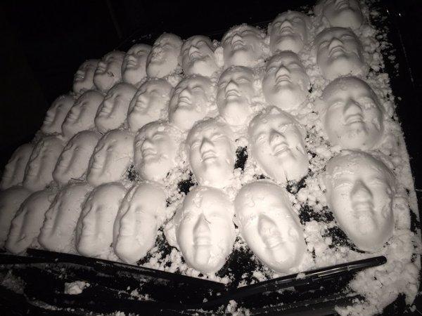 雪だるま イタズラ 不気味に関連した画像-03