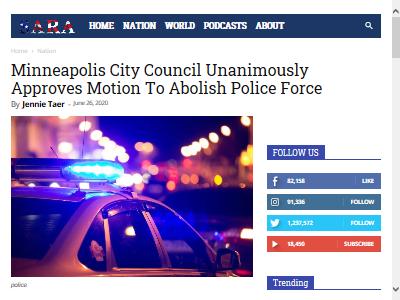 ミネアポリス 警察 廃止に関連した画像-02