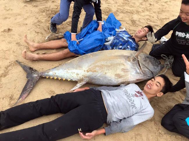鹿児島 中学生 マグロ 素手 格闘 捕獲に関連した画像-04