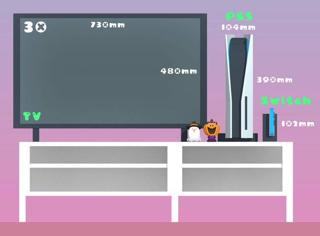 PS5 大きさ 比較 リビング テレビに関連した画像-02
