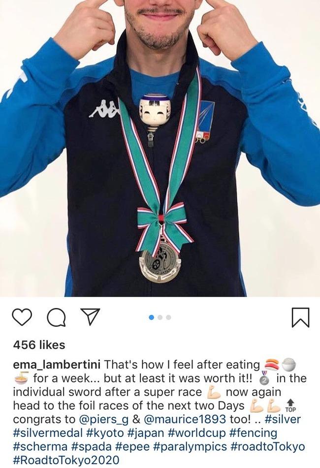 フェンシング世界王者 吊目写真 差別ジェスチャーに関連した画像-04