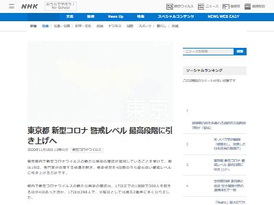 新型コロナ 東京都 警戒 最高 給付金 自粛 マスク 感染 忘年会に関連した画像-02