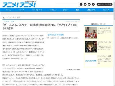 ガルパン 興行収入 10億円に関連した画像-02