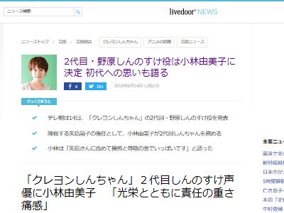 クレヨンしんちゃん 野原しんのすけ 降板 矢島晶子 小林由美子に関連した画像-02
